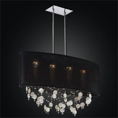 Capiz Chandelier – Oval Shade Chandelier | Lifestyles 006