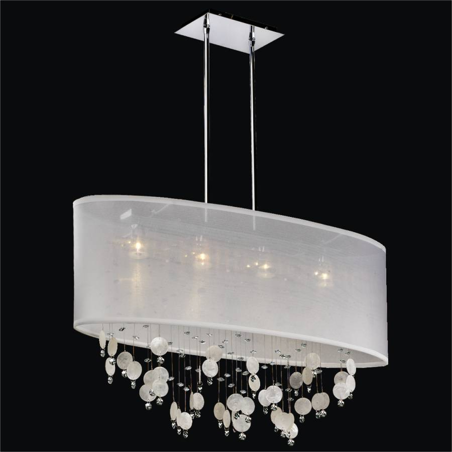 Capiz Chandelier - Oval Shade Chandelier | Lifestyles 006K by GLOW Lighting