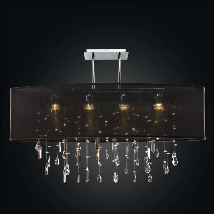 Crystal Drop Chandelier – Oval Shade | Lifestyles 006MM33SP-B-3C