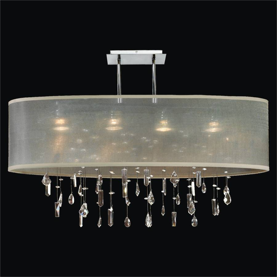 Crystal Drop Chandelier – Oval Shade | Lifestyles 006MM33SP-T-3C