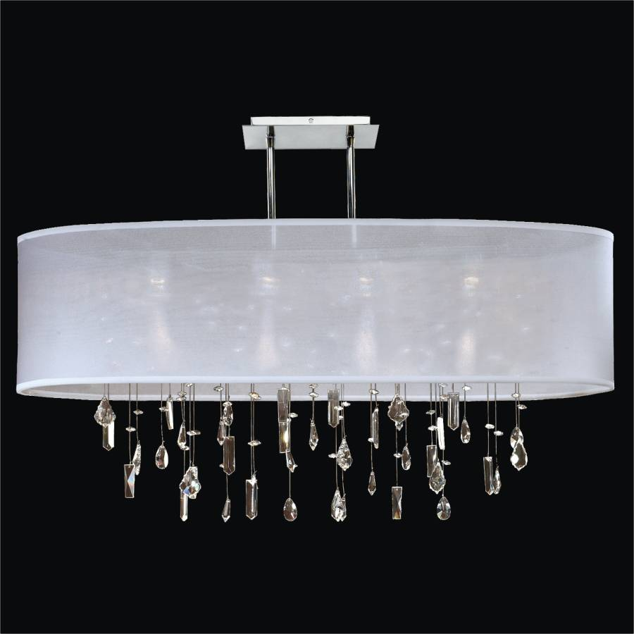Crystal Drop Chandelier – Oval Shade | Lifestyles 006MM33SP-W-3C
