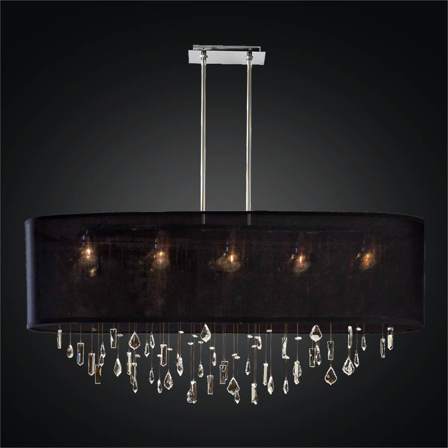 Crystal Drop Chandelier – Oval Shade | Lifestyles 006MM45SP-B-3C