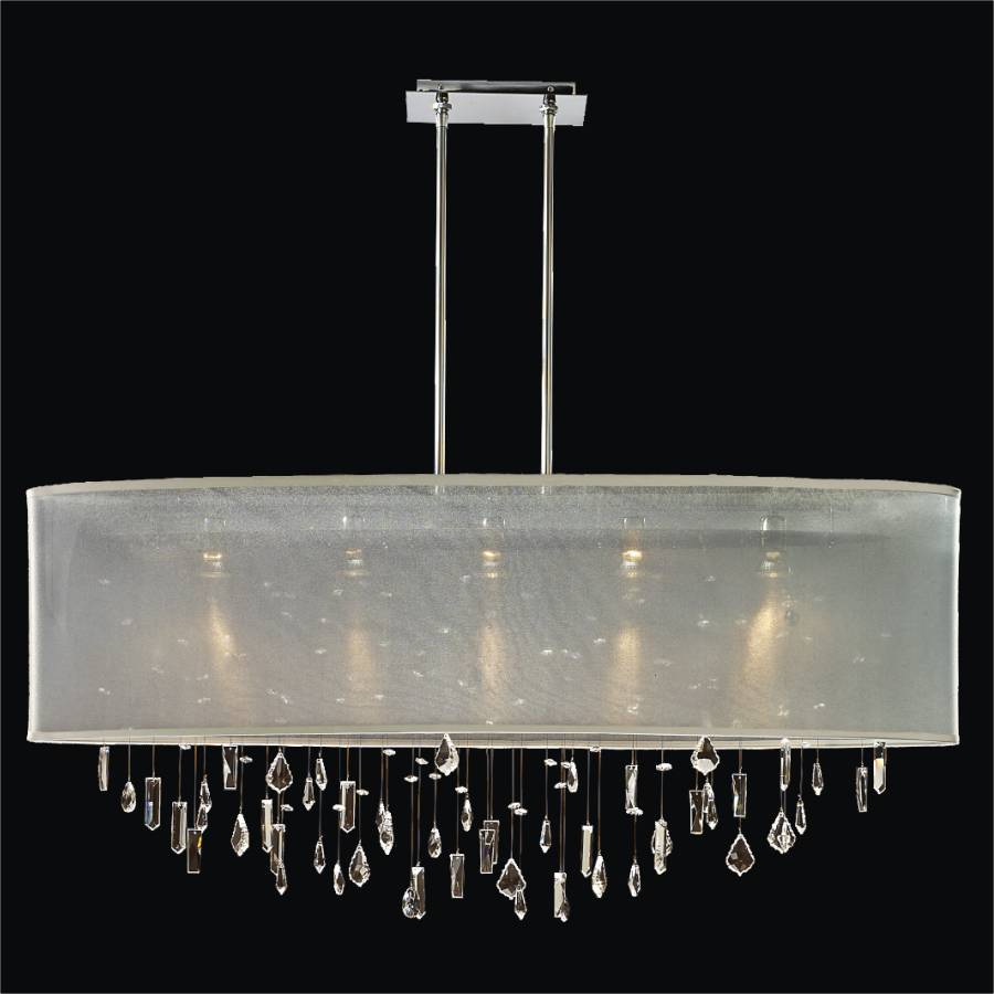 Crystal Drop Chandelier – Oval Shade | Lifestyles 006MM45SP-T-3C