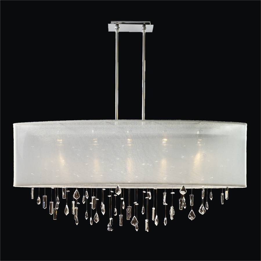Crystal Drop Chandelier – Oval Shade | Lifestyles 006MM45SP-W-3C