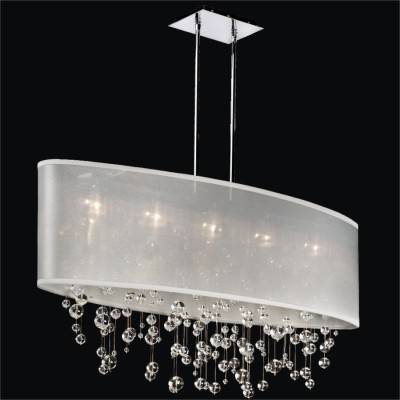 Oval Shaded Smooth Crystal Pendant Chandelier | Lifestyles 006
