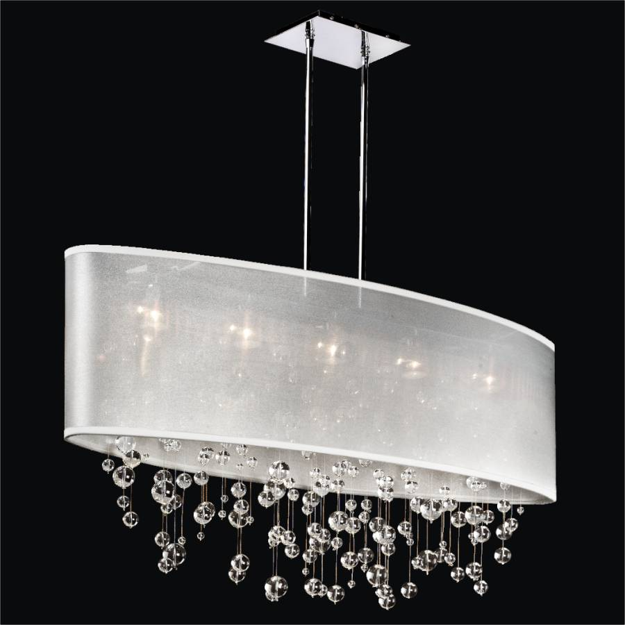 Bubble Chandelier - Oval Shade Chandelier | Lifestyles 006R by GLOW Lighting