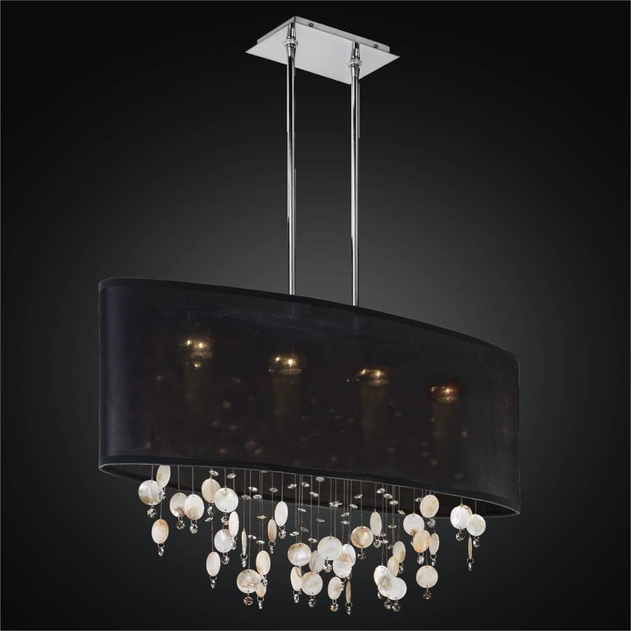 Seashell Chandelier - Oval Shade | Lifestyles 006S ier by GLOW Lighting