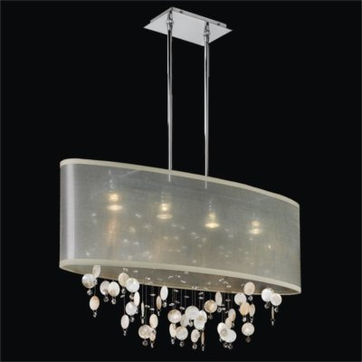 Oyster Shell Chandelier – Oval Shade Chandelier | Lifestyles 006