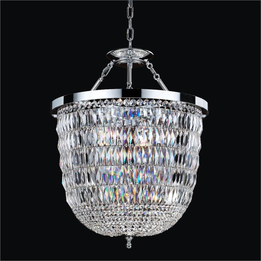 Crystal Lantern Chandelier | Lucia 607 by GLOW Lighting