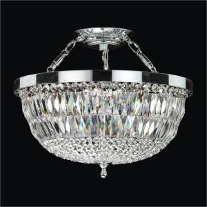 Crystal Semi Flush Mount Ceiling Light | Lucia 607 by GLOW Lighting