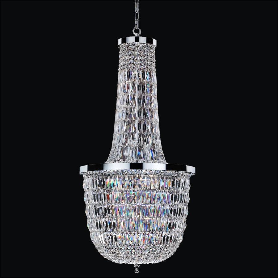 Tall Crystal Chandelier | Lucia 607 by GLOW Lighting