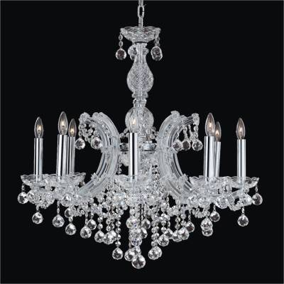 Maria Theresa 8 Light Crystal Ball Chandelier | Maria Theresa 561F