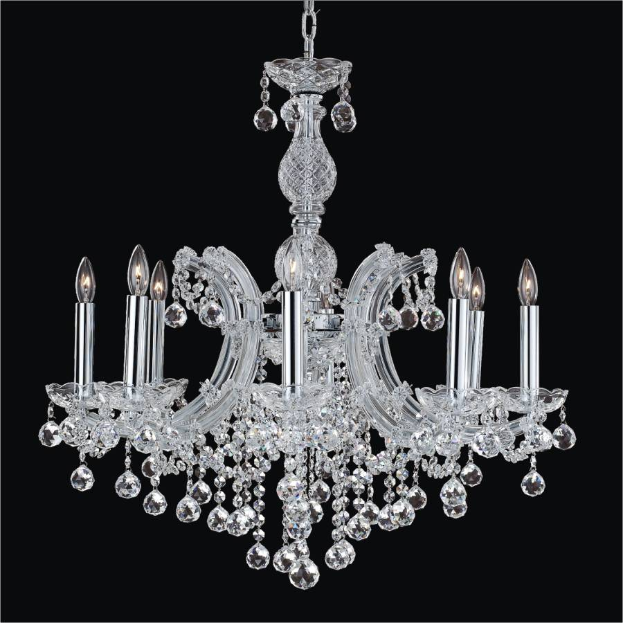 Maria Theresa 8 Light Crystal Ball Chandelier | Maria Theresa 561F by GLOW Lighting