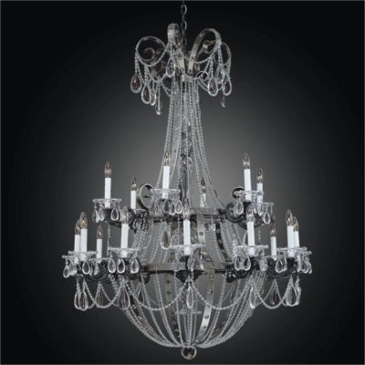 Large Wrought Iron Chandeliers – Beaded Chandelier | Medieval Castle 547