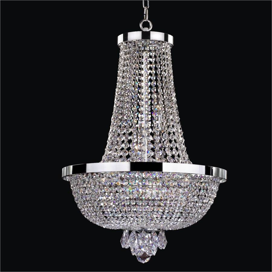 Modern Empire Chandelier | Modern Time 603 by GLOW Lighting