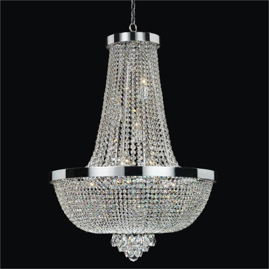 Modern time crystal chandelier by GLOW Lighting