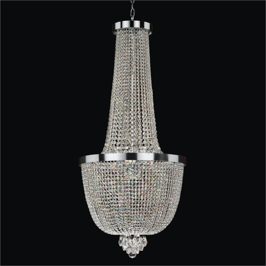 Contemporary Foyer Chandeliers : Foyer crystal chandelier modern time glow lighting