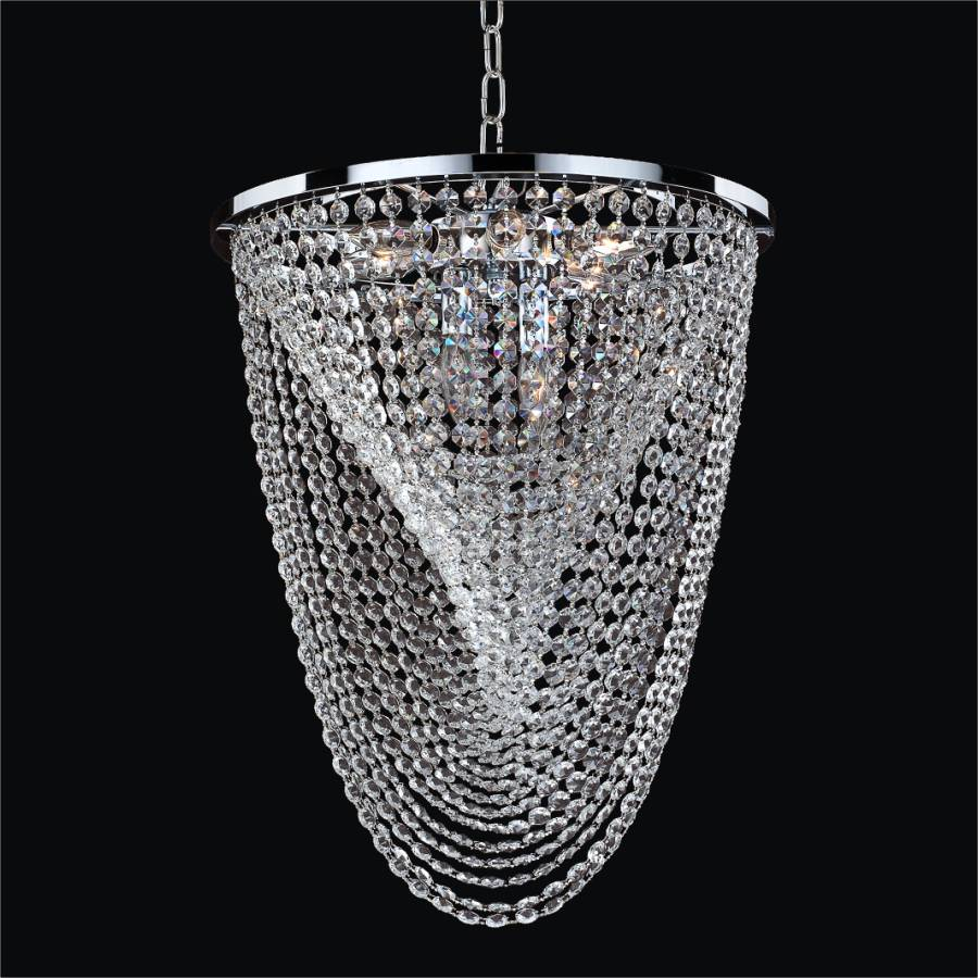 Oasis crystal chandelier by GLOW Lighting