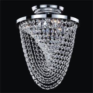 Oasis crystal flush mount by GLOW Lighting