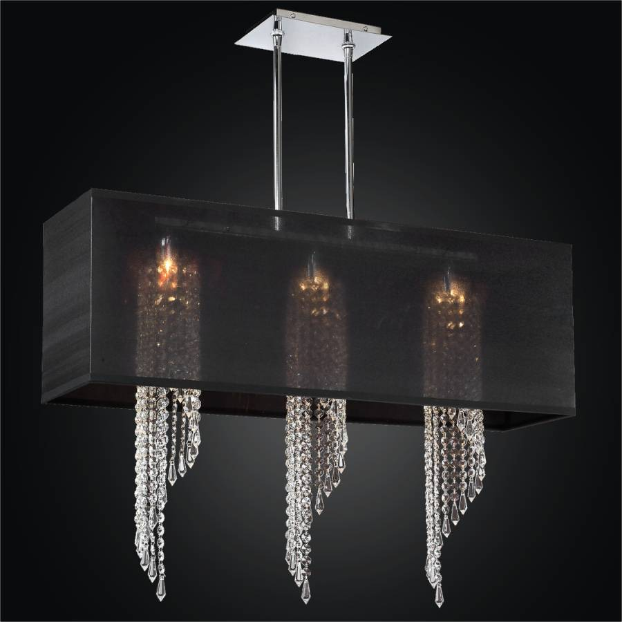 Rectangular Shade Chandelier - Spiral Crystal Chandelier | Ocean Wave 617 by GLOW Lighting