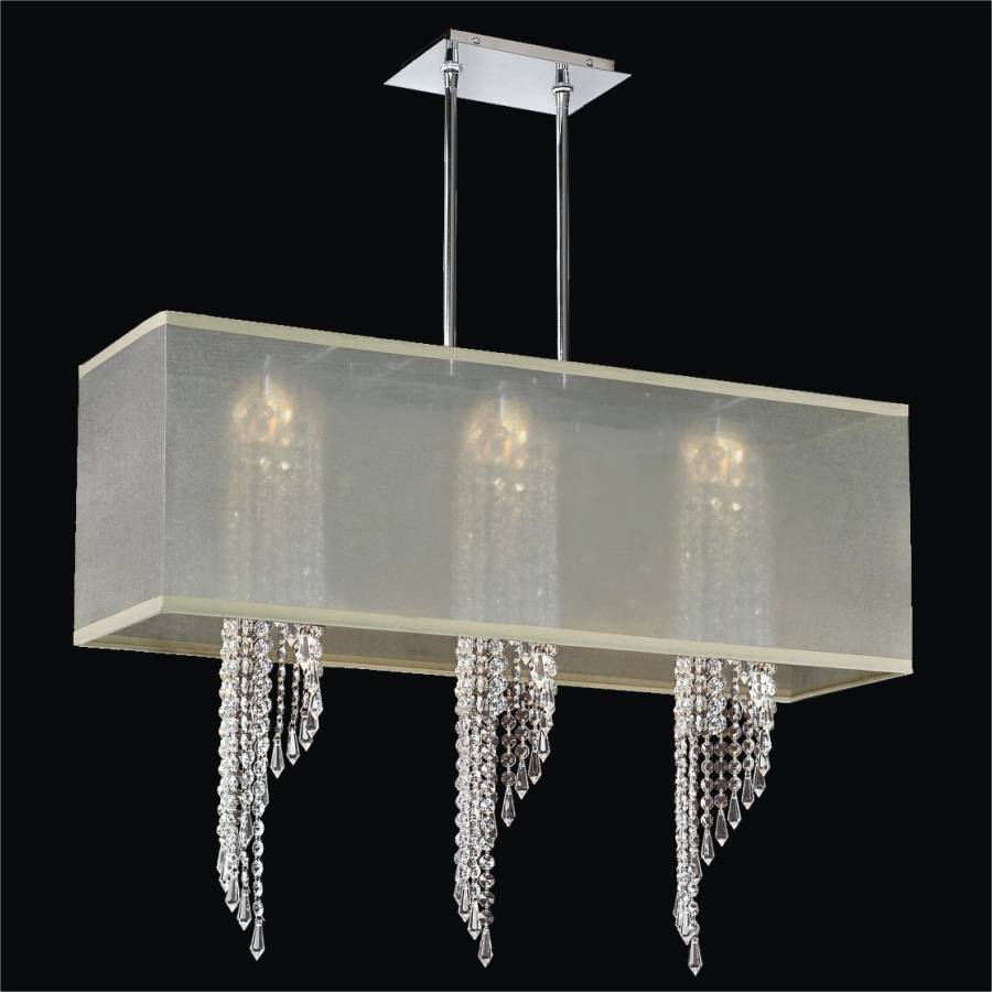 Spiral Crystal Chandelier - Rectangular Shade | Ocean Wave 617 by GLOW Lighting