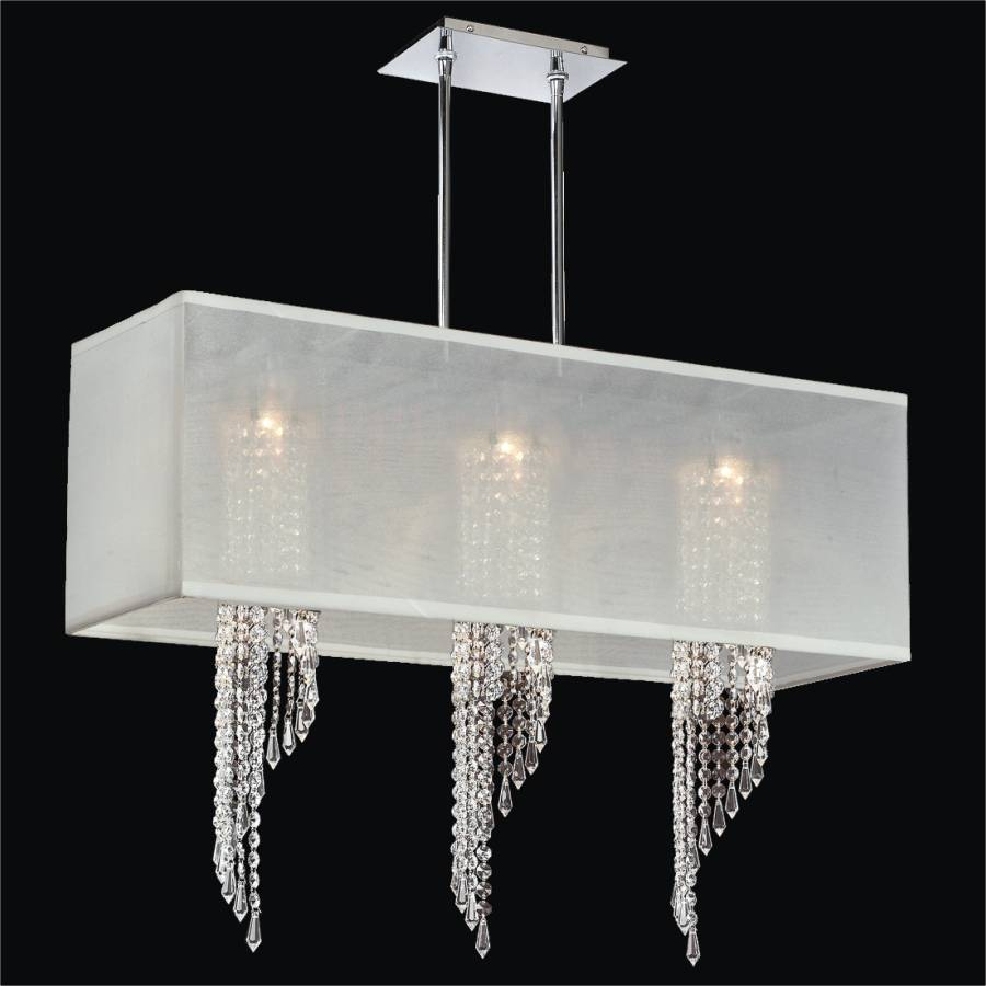 Spiral Crystal Chandelier - Rectangular Shade | Ocean Wave 617 - Glow®