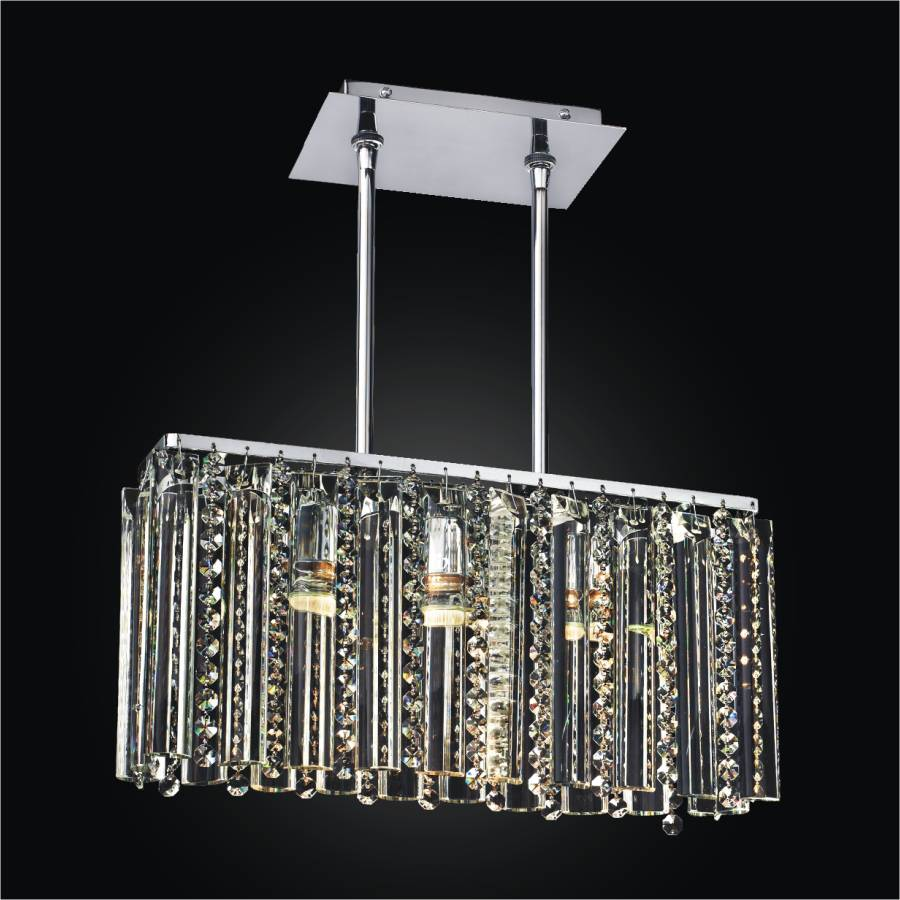 rectangular glass chandelier crystal chandelier