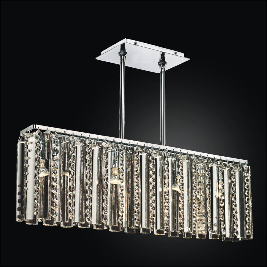 Rectangular Glass Chandelier | Odyssey 624 by GLOW Lighting