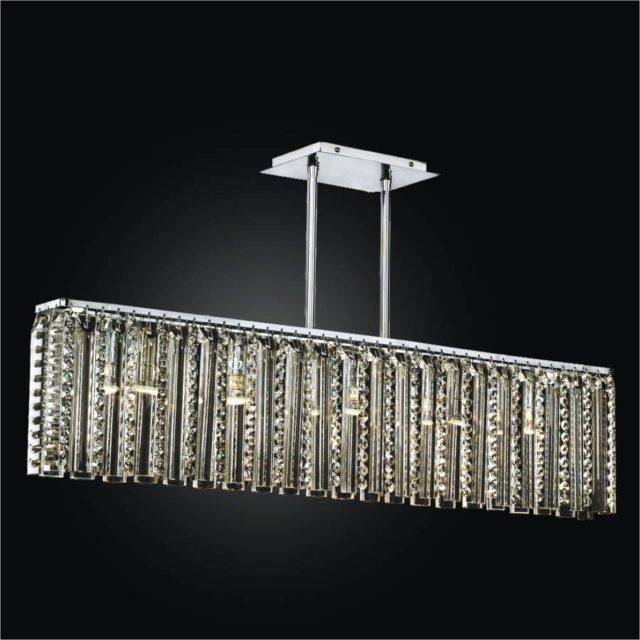 Rectangular Glass Chandelier | Odyssey 624DM5LSP-7C