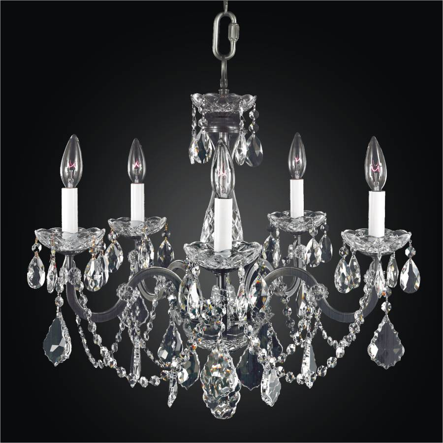 iron and crystal chandelier 5 light chandelier 543a