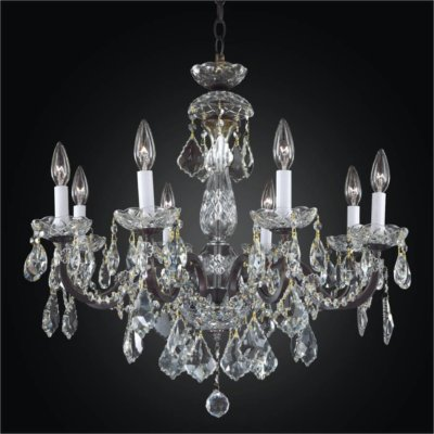 Iron and Crystal Chandelier – 8 Light Chandelier | Old World Iron 543A