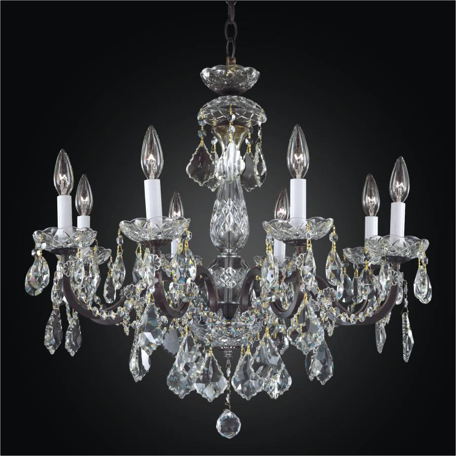 crystals wrought black chandelier and with crystal iron inspiring chandeliers