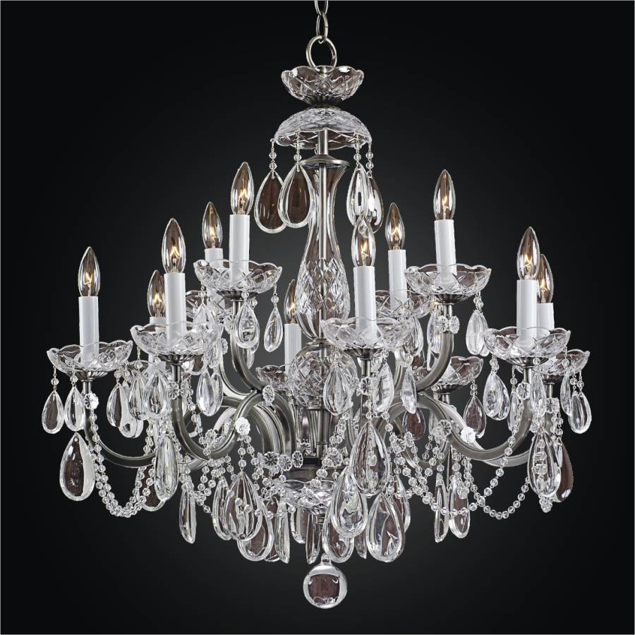 Wrought Iron Crystal Chandelier | Old World Iron 543H by GLOW Lighting