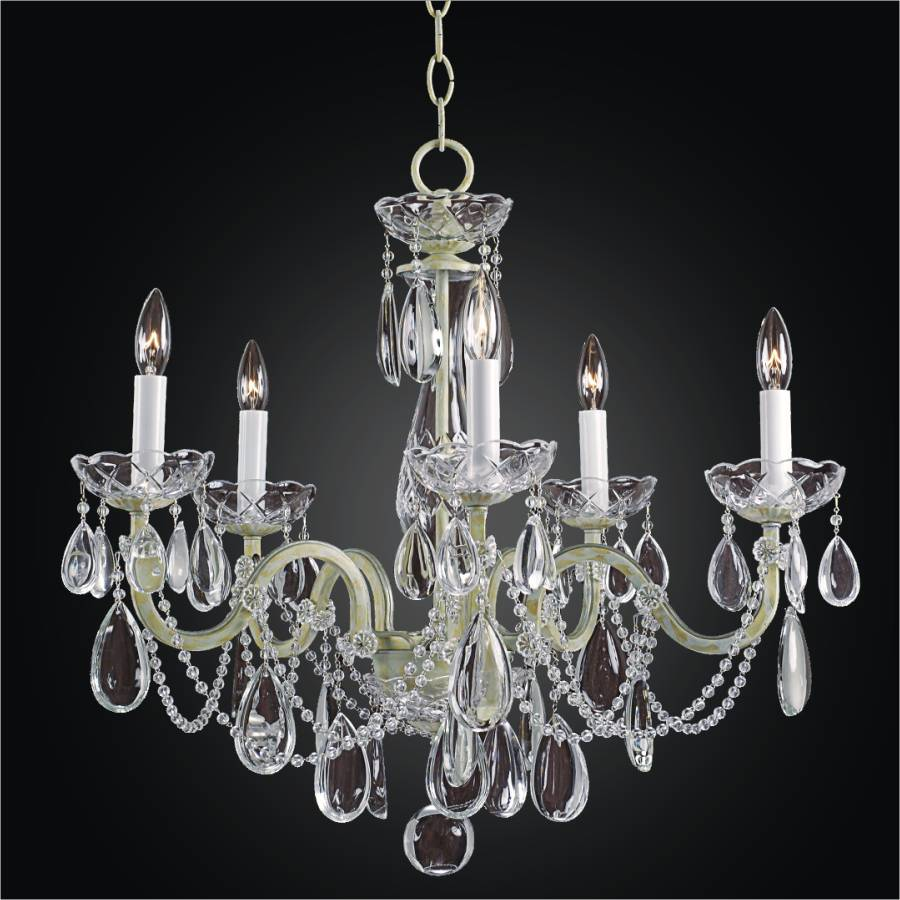 Iron and Crystal Chandelier | Old World Iron 543H by GLOW Lighting