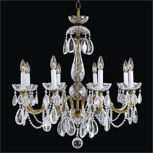 Wrought Iron and Crystal Chandelier | Old World Iron 543H by GLOW Lighting