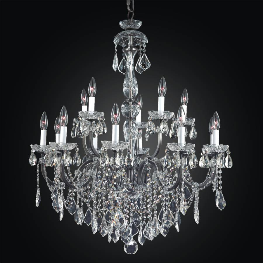 Large Wrought Iron Chandelier | Old World Iron 543A by GLOW Lighting