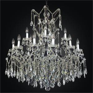 Large Chandelier | Old World Iron 543A by GLOW Lighting