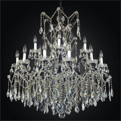 Large Wrought Iron Chandeliers Crystal Old World 543a