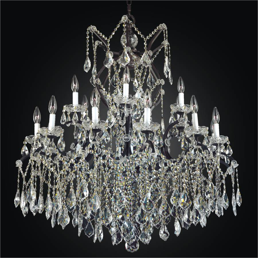 rococo chandelier iron black crystal chandeliers p light and versailles the