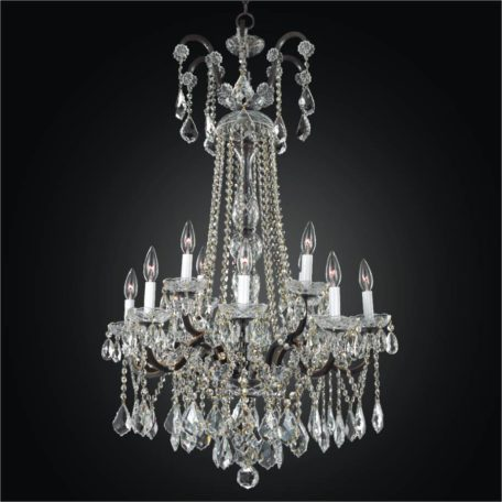 Old world iron grand foyer crystal chandelier by glow lighting