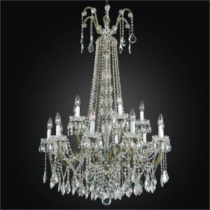 Large Foyer Chandelier | Old World Iron 543A by GLOW Lighting
