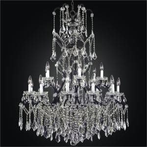High Ceiling Chandelier | Old World Iron 543 by GLOW Lighting