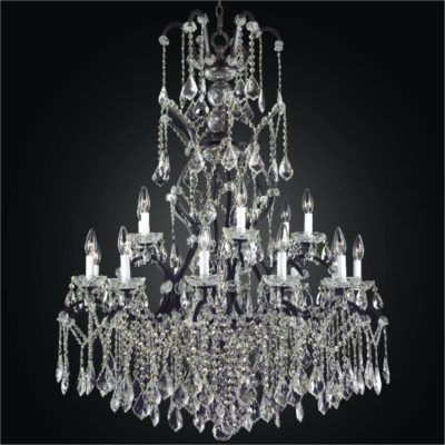 Wrought iron foyer chandelier crystal chandeliers old world iron 543