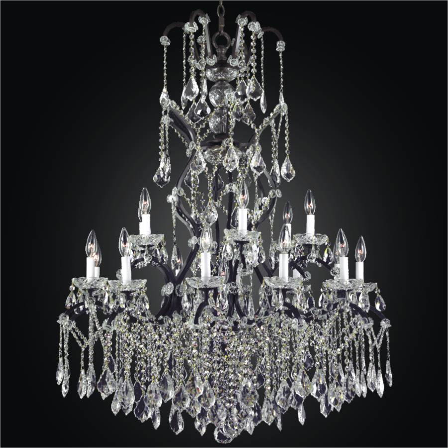 wrought garden and light chandelier iron shipping home free product crystal today overstock