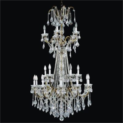 Wrought Iron Foyer Chandeliers – Entryway Crystal Chandelier | Old World Iron 543A