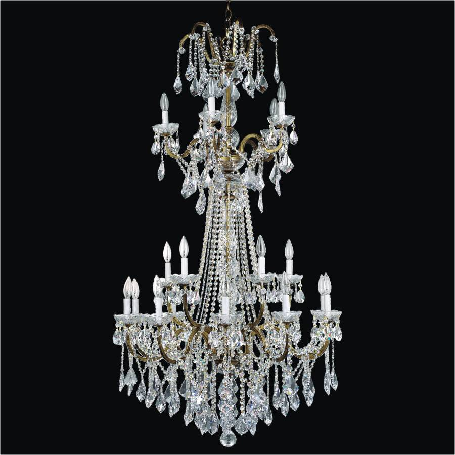 Staircase Chandelier | Old World Iron 543A by GLOW Lighting