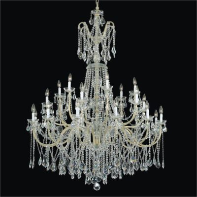 Wrought Iron Foyer Chandeliers – Long Crystal Chandelier | Old World Iron 543A