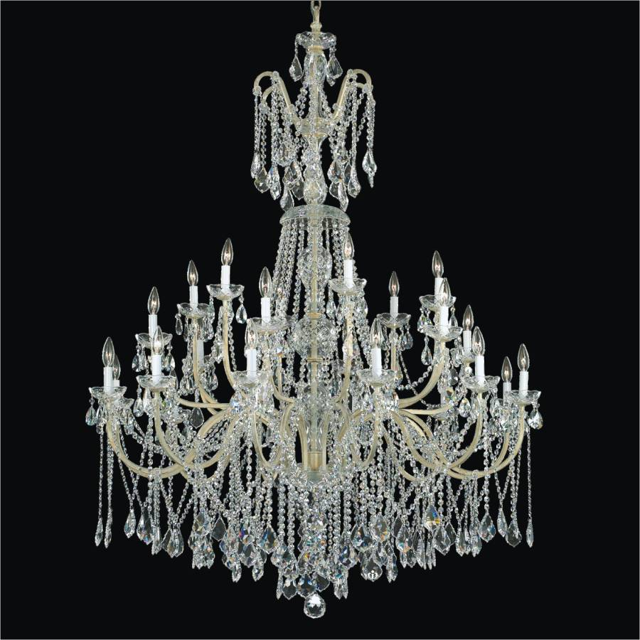 Wrought Iron Foyer Chandeliers Long Crystal