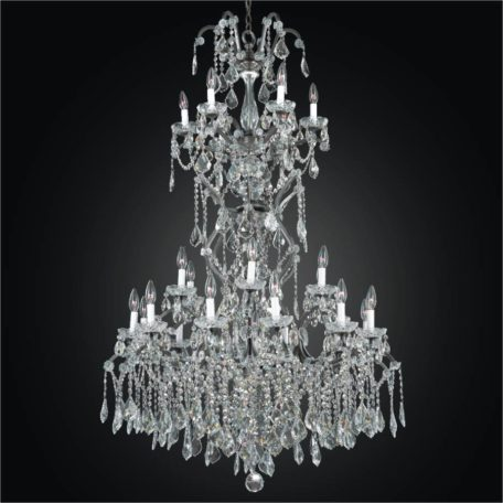 Large wrought iron foyer chandelier crystal chandeliers old old world iron grand foyer crystal chandelier by glow lighting aloadofball Image collections