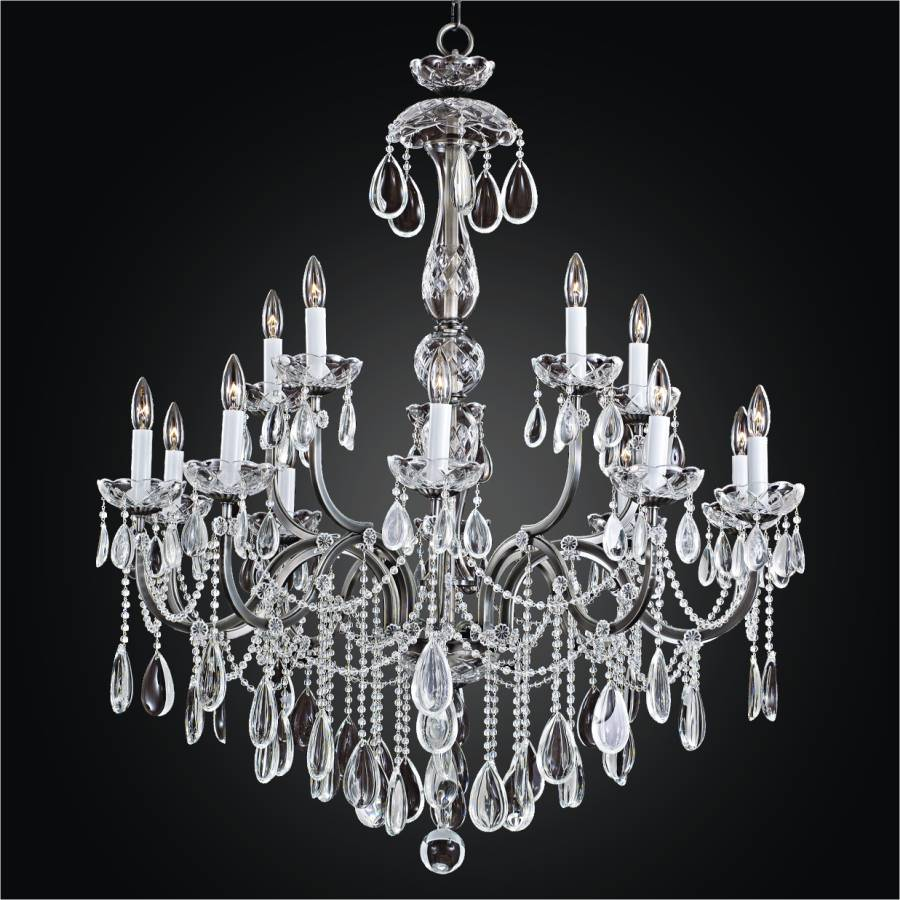 Iron Crystal Chandelier | Old World Iron 543H by GLOW Lighting